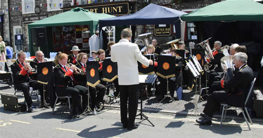 Image of the band playing